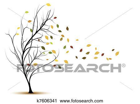 Clipart - décoratif, vecteur, arbre, silhouette k7606341 ... on