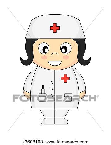 Infirmiere Clipart K7608163 Fotosearch