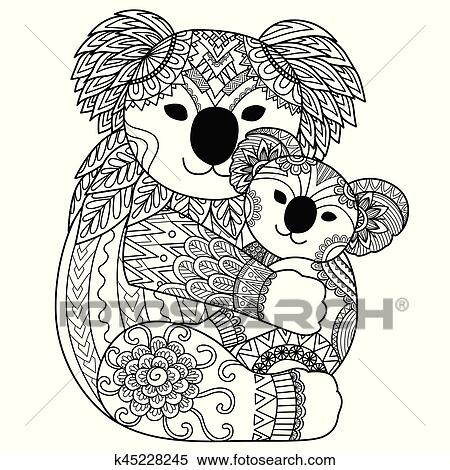 Clipart - lindo, koala k45228245 - Buscar Clip Art, Ilustraciones de ...