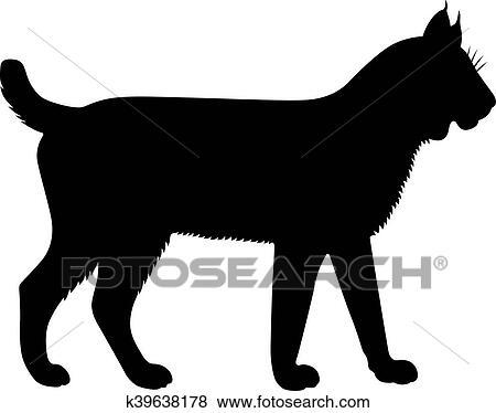 clip art of lynx bobcat k39638178 search clipart illustration rh fotosearch com bobcat mascot clipart bobcat clipart black and white