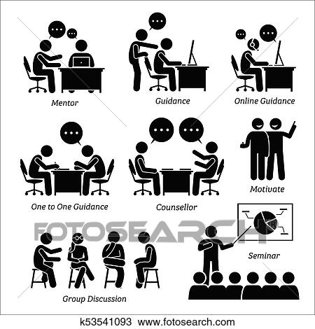 Mentor Guidance Coach For Business Executive Clipart K53541093 Fotosearch