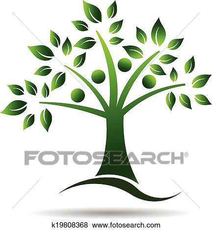 clip art of people tree logo for family tree k19808368 search rh fotosearch com clipart family tree cernterpeices clipart family tree free