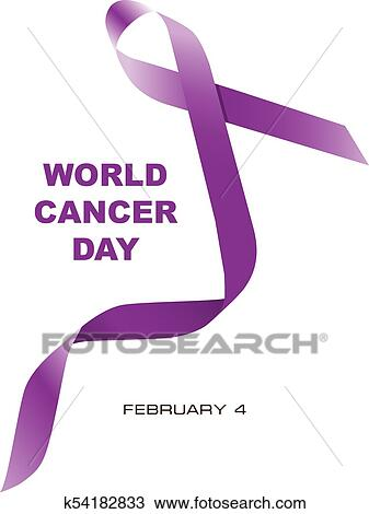 clipart of world cancer day purple ribbon k54182833 search clip