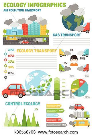 clipart cologie infographics ensemble air eau et sol pollution diagrammes vecteur. Black Bedroom Furniture Sets. Home Design Ideas