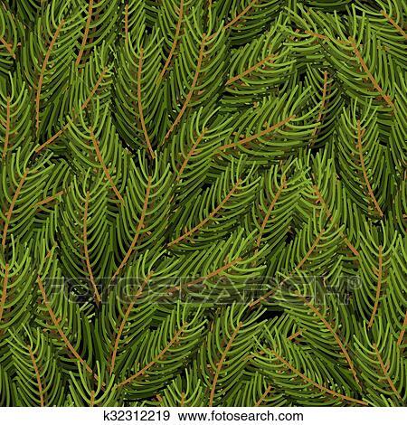 Weihnachtsbaum Natürlich.Fichte Zweig Hintergrund Tannenzweig Seamless Pattern