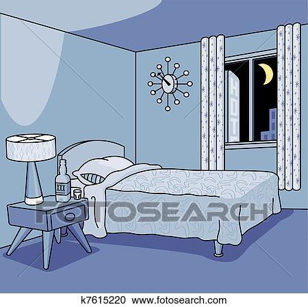 Clipart - früher, hotelzimmer k7615220 - Suche Clip Art ...