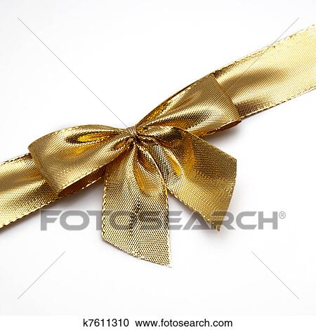 stock photography of gold gift bow k7611310 search stock photos