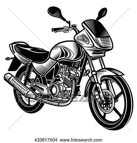 clipart of motorcycle vector illustration k33817504 search clip rh fotosearch com motorcycle vector bundle commercial license motorcycle vector free download