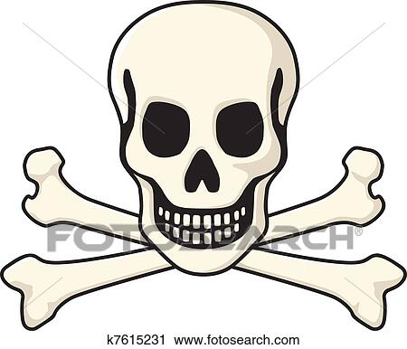 clipart of skull and crossbones k7615231 search clip art rh fotosearch com  cartoon jolly roger clipart