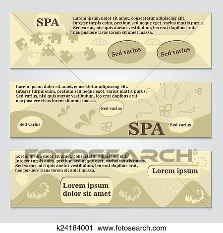 clipart of spa flyer template k24184001 search clip art