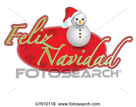 Buon Natale 118.Spagnolo Buon Natale Pupazzo Di Neve Clip Art