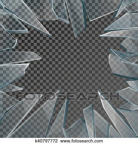 Clipart - cristal quebrado, marco ventana, vector k40797772 - Buscar ...