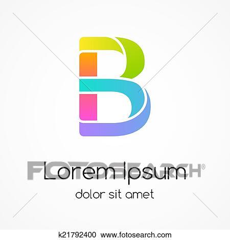 clipart logotipo letra b companhia vetorial desenho template