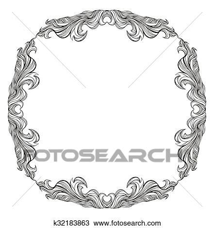 Clipart - vendimia, vector, marco, con, lugar, para, texto, o ...