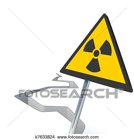 3d Earthquake And Nuclear Sign Drawings K7633824