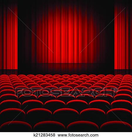 clip art cortinas rojas teatro etapa - Cortinas Rojas