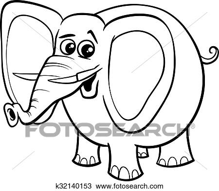 Elefant Tier Ausmalbilder Clipart K32140153 Fotosearch