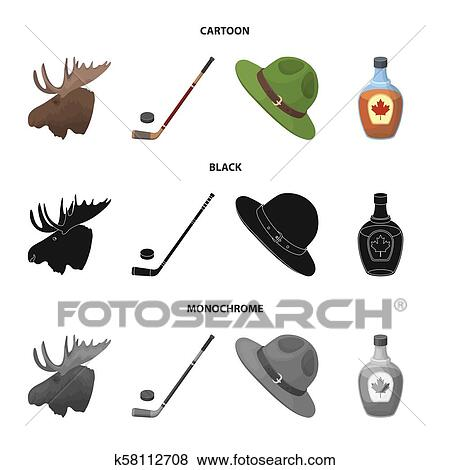 a6d9627c2fcc3 Canada set collection icons in cartoon
