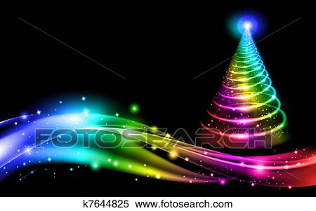 clipart of abstract christmas tree k7644825 search clip art