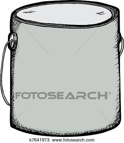 Paint Can And Brush clip art Free vector in Open office drawing svg ( .svg  ) vector illustration graphic art design format format for free download  85.66KB