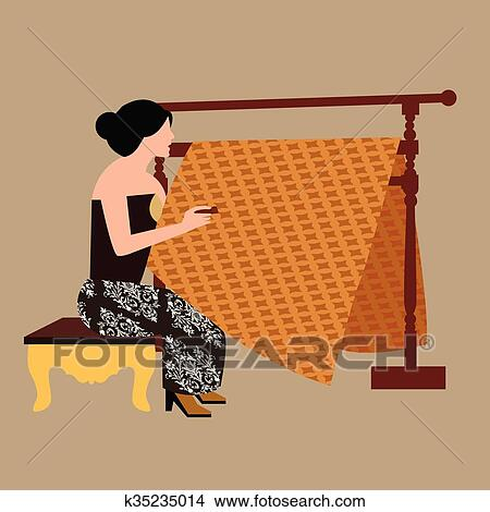 clipart of javanese woman girl drawing create batikholding canting rh fotosearch com create clipart video create clipart free online