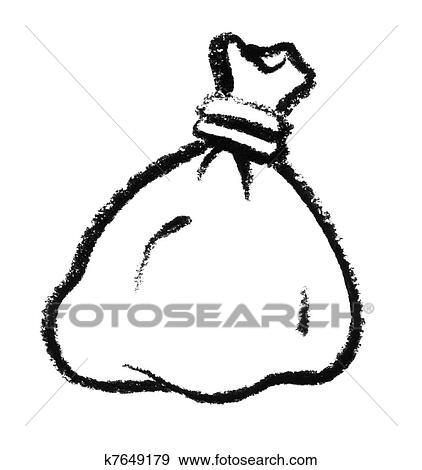 Stock Illustration Of Sketched Bag K7649179