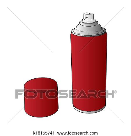 clipart of spray paint can vector k18155741 search clip art rh fotosearch com spray can vector free graffiti spray can vector