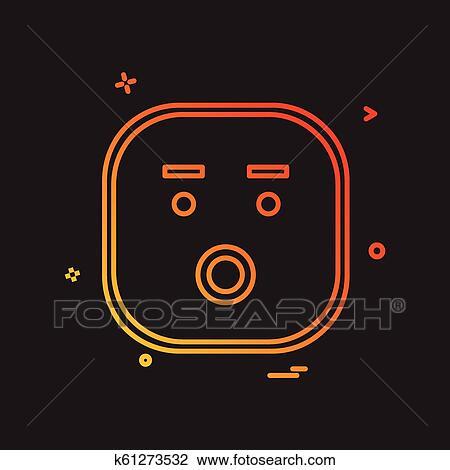 Triste Emoji ícone Desenho Vetorial Clipart K61273532