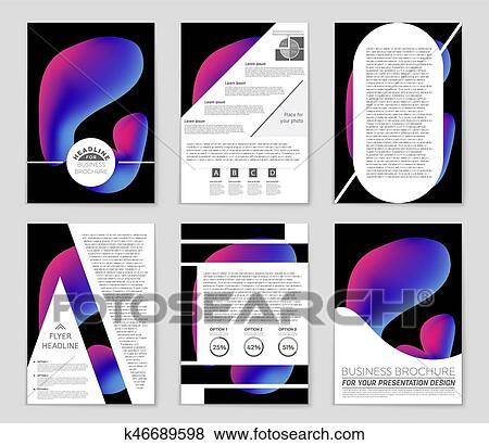 クリップアート - 抽象的, ベクトル, レイアウト, 背景, set., ∥ために∥, 芸術, テンプレート, デザイン, リスト, 一面, mockup, パンフレット, 主題, スタイル, 旗, 考え, カバー, 小冊子, 印刷, フライヤ, 本, ブランク, カード, 広告, 印, シート, a4. Fotosearch