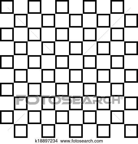 Clipart Abwechseln Vierecke Auf Transparent Hintergrund Zaun