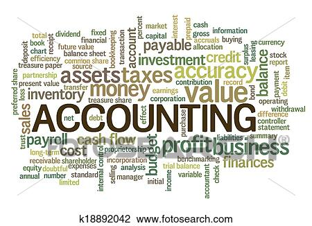 clipart of accounting word cloud word bubble tags k18892042 search