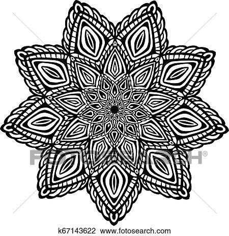 Mandala Para Coloracao Book Incomum Flor Forma Decorativo