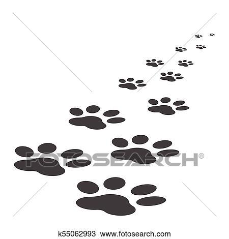 Paw print icon vector illustration