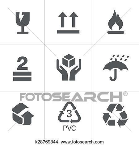 Packaging Symbols Clipart
