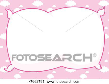 Clipart of Pink Pillow Frame k7662761 - Search Clip Art ...