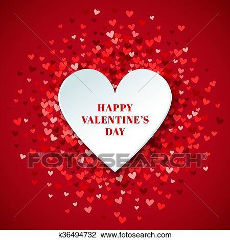 Romantique Coeur Rouge Arriere Plan Illustration Dessin