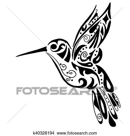 Clipart - colibrí, para, colorido, o, tatuaje k40328194 - Buscar ...