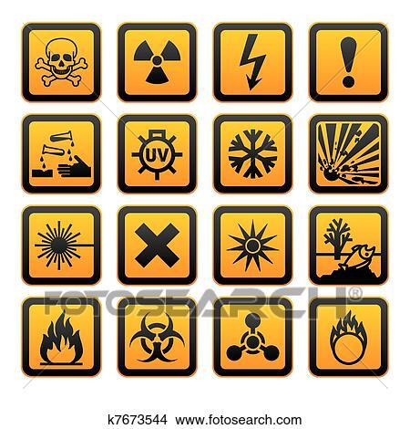 Clipart Of Hazard Symbols Orange Vectors Sign K7673544 Search Clip