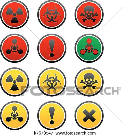 Clip Art Of Symbols Of Hazard K7673547 Search Clipart