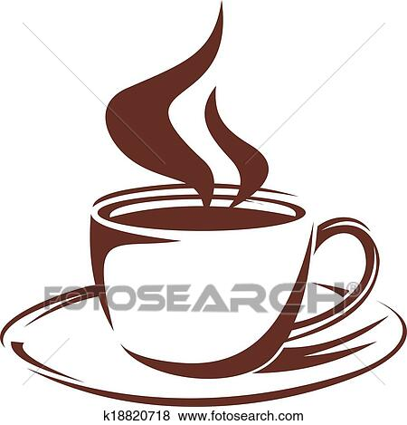Dessin Tasse De Café Fumant clipart - tasse fumante, de, entiers, rôti, café k18820718
