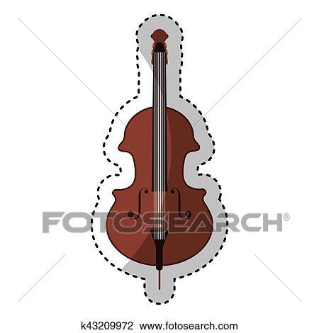 Cello Instrument Isolated Icon Clipart K43209972 Fotosearch