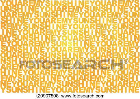 Clip Art - lei, ara, mio, sole, in, differente, tonalità, di, giallo ...
