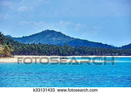Nacapan Beach Palawan Philippines Stock Image K33131433