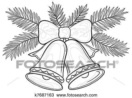 desenho sinos natal contornos k7687163 busca de imagens clip