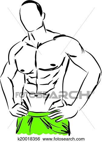 Work Out Man Body Fitness Illustrat Clip Art K20018356 Fotosearch