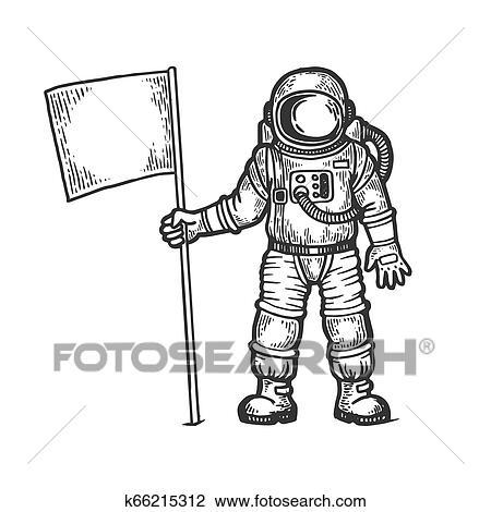 رسم رجل فضاء