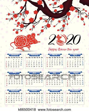 chinese new year 2020 calendar