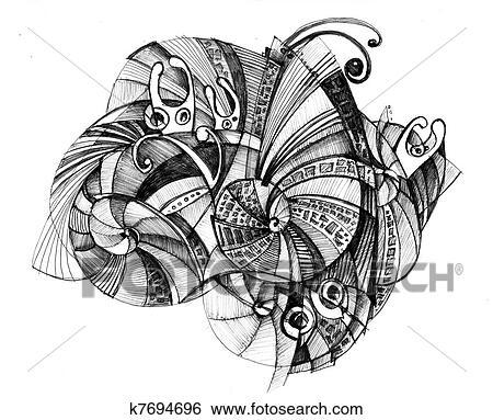 Delat Resume Kresleni Temny Barva Ilustrace Z Mnoziny K7694696