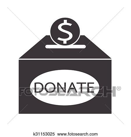 clipart of donation box icon k31153025 search clip art