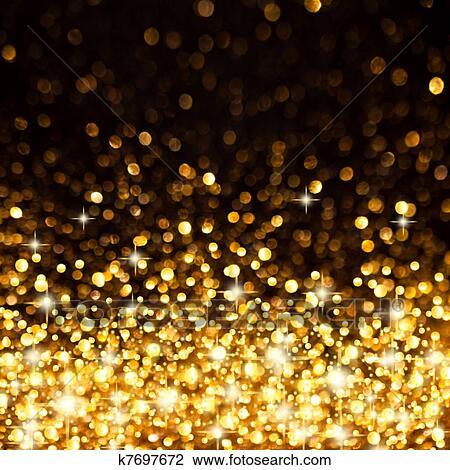 image of golden christmas lights background